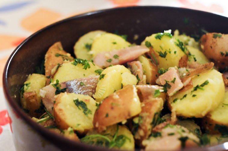 Herring salad with potatoes