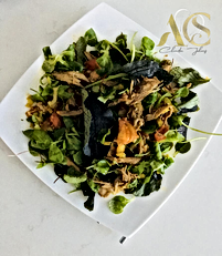 Duck and green salad