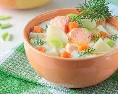 Soupe de saumon