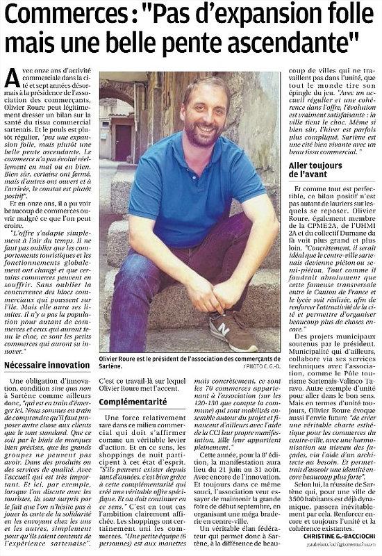Association des commerçants de Sartène Olivier Roure