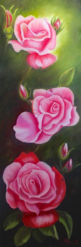 Mes trois rose