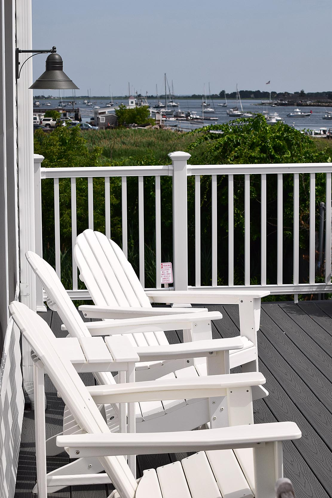 Adirondack Chairs on the Deck