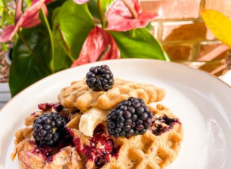 Berry Good Oat Waffles