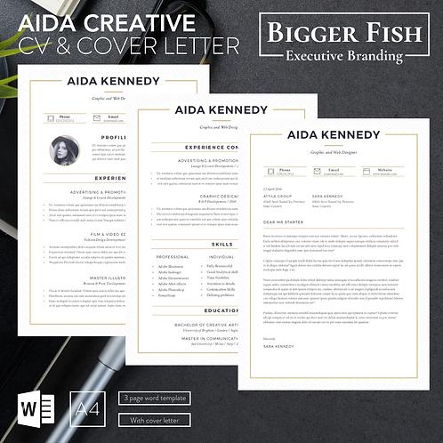 Aida Creative CV & Cover Letter