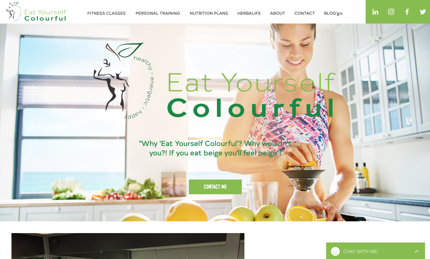 Eat Yourself Colourful Website