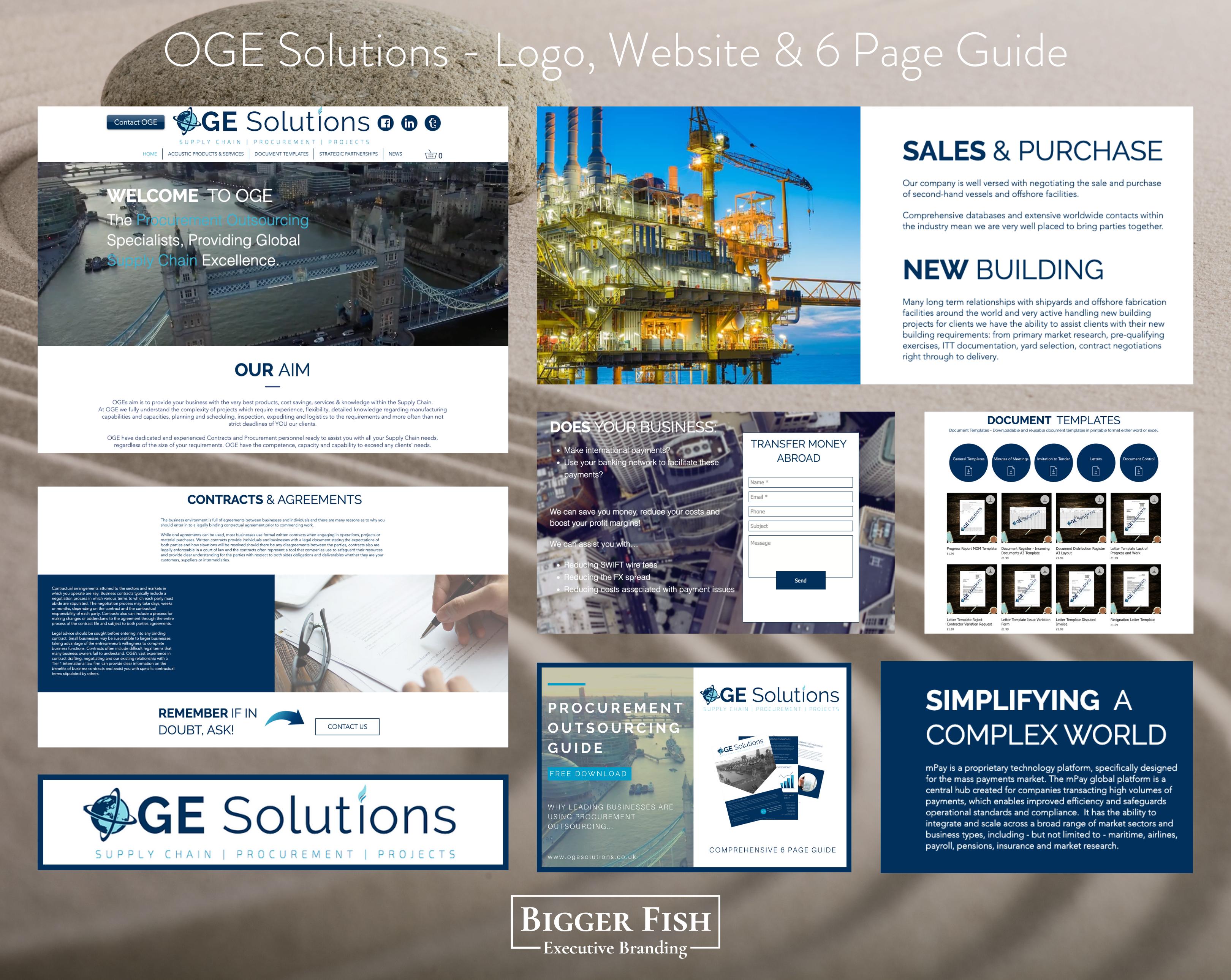 OGE Solutions - Logo, Website & 6 Page G
