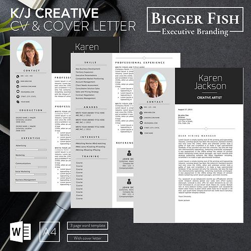 K/J Creative CV & Cover Letter