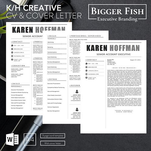 K/H Creative CV & Cover Letter