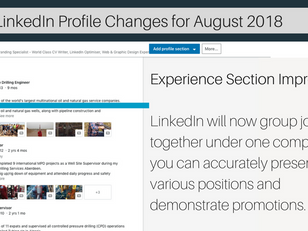 LinkedIn Experience Section Update