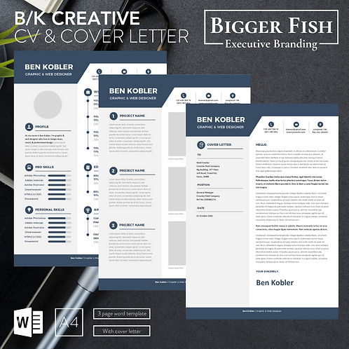 B/K Creative CV with Cover Letter