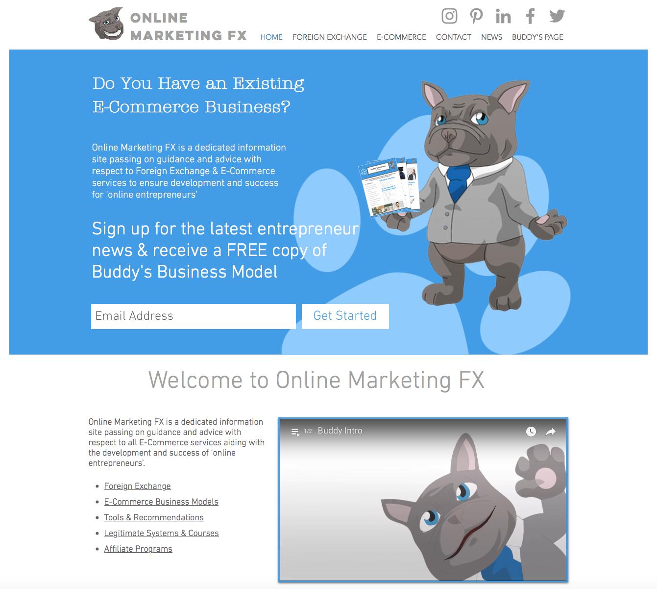 Online Marketing FX Website