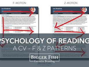 Psychology of reading a CV - F & Z Patterns