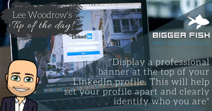 Should I display a banner on my LinkedIn profile?