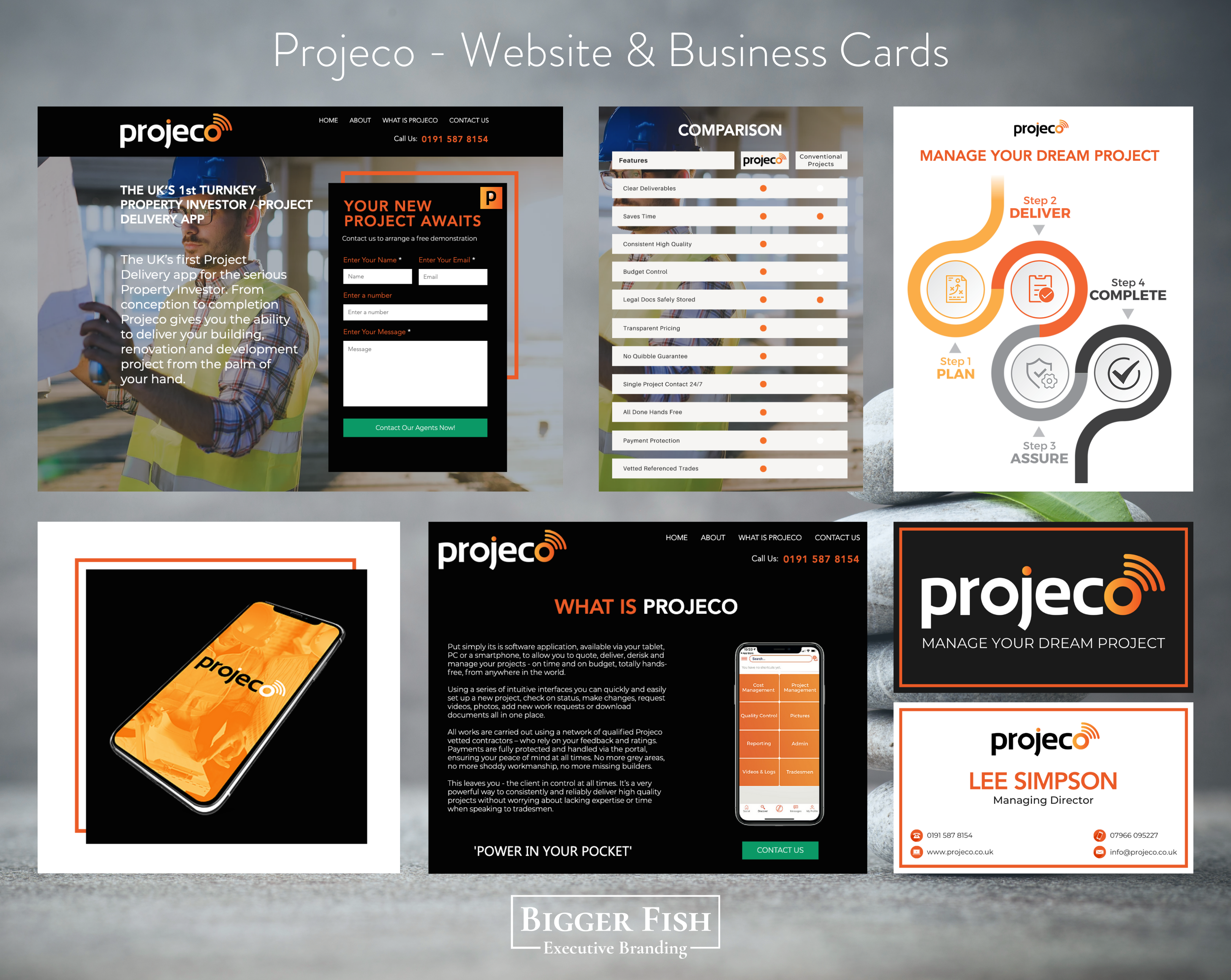 Projeco - Website & Business Cards