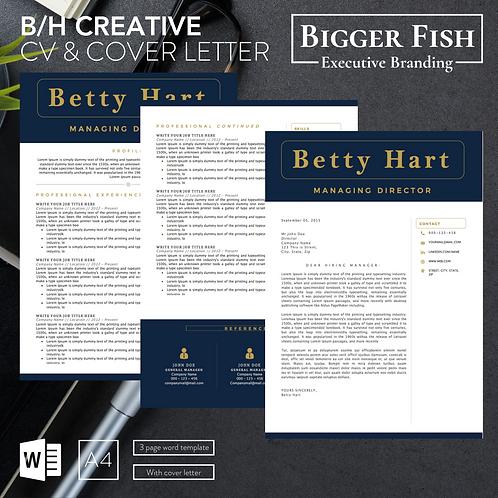 B/H Creative CV & Cover Letter