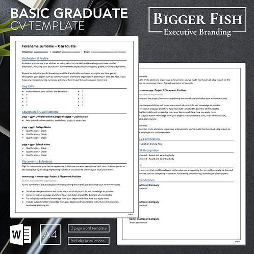 Basic Graduate CV Template