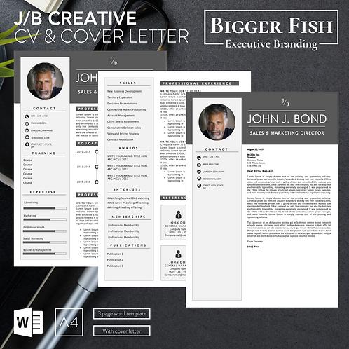 J/B Creative CV & Cover Letter