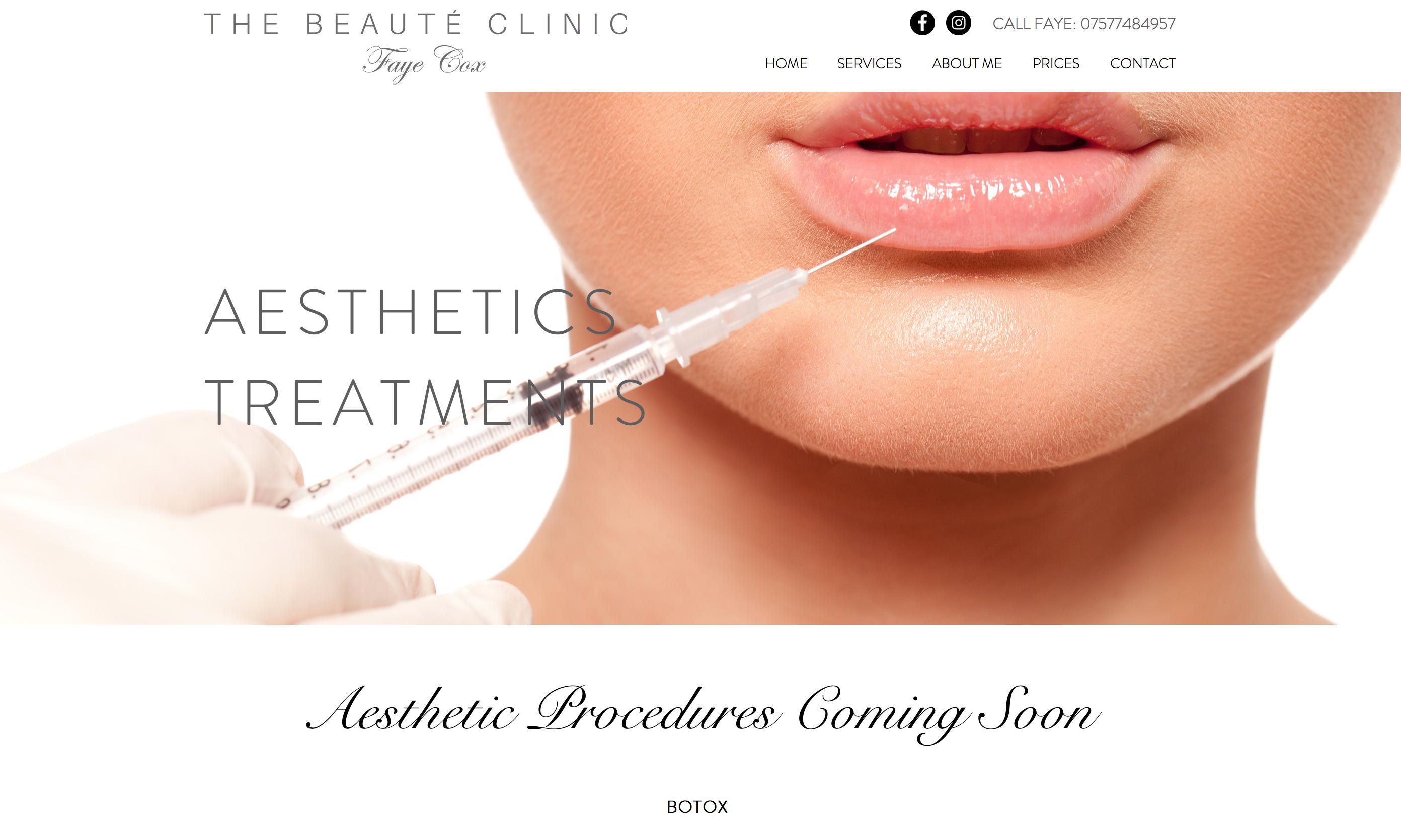 Beaute Clinic Website 2