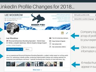 New 2018 LinkedIn Profile Layout