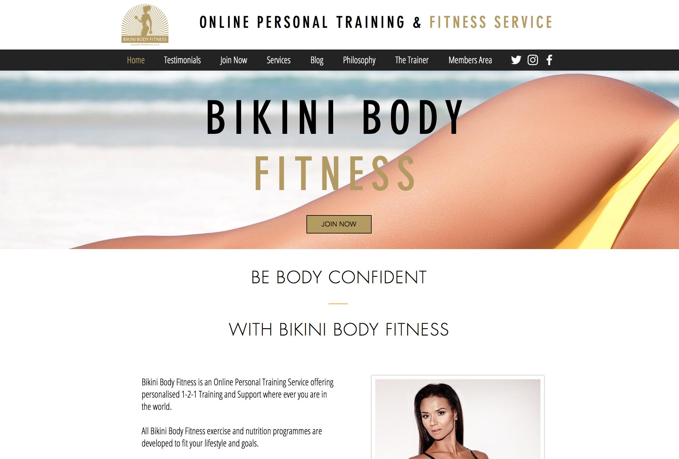 Bikini Body Fitness Website