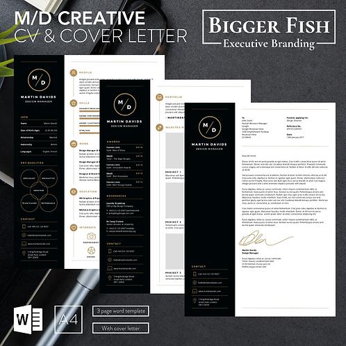 M/D Creative CV & Cover Letter