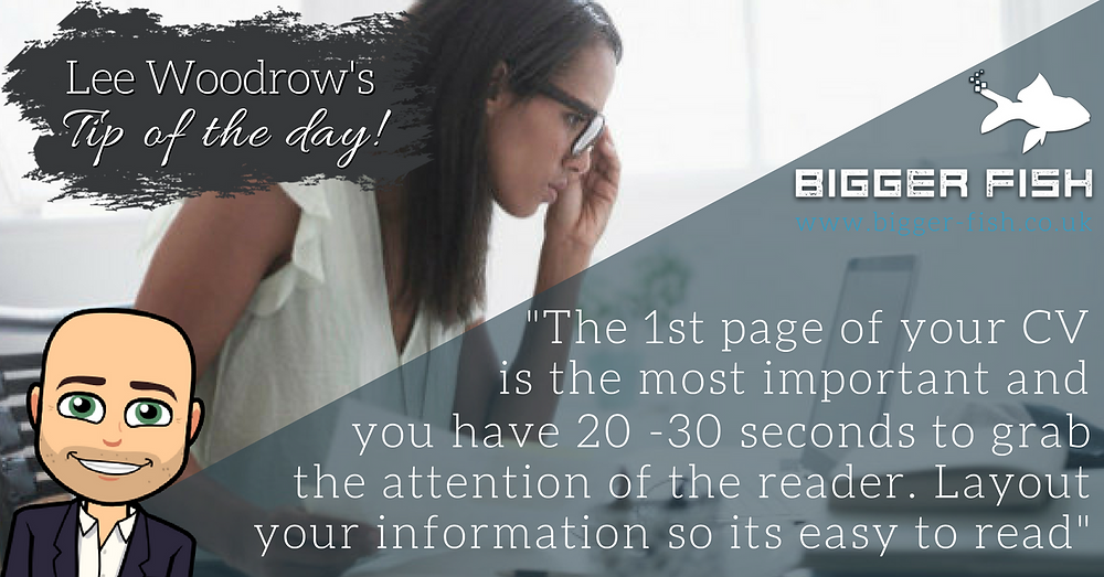 Put the most important information on the 1st page of your CV
