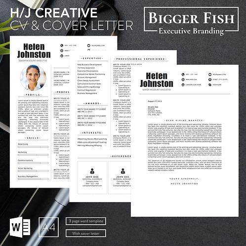 H/J Creative CV & Cover Letter