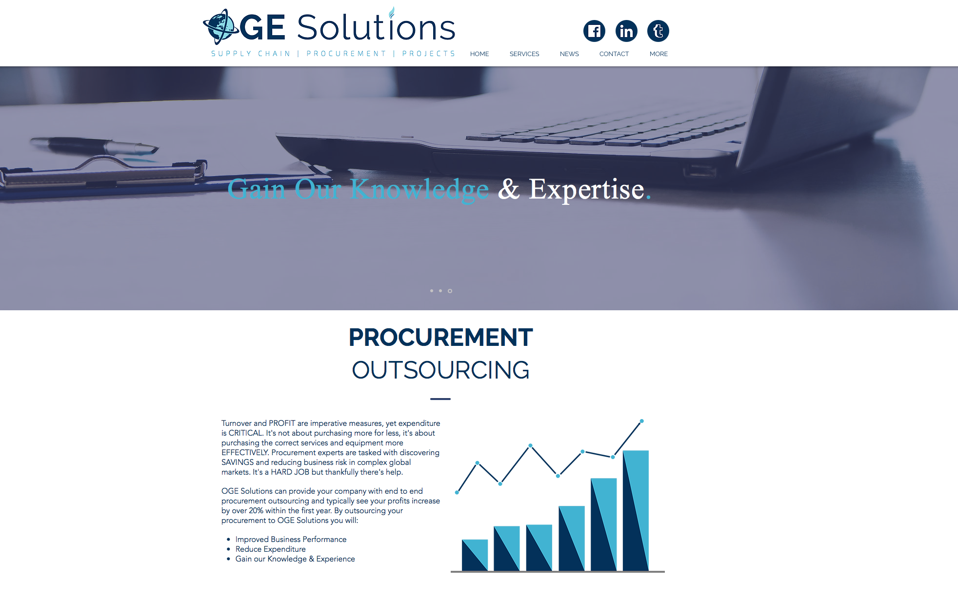 OGE Solutions Website by Bigger-Fish