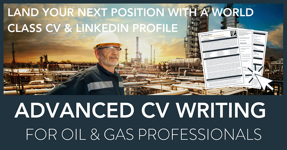 Oil and Gas CV by Lee Woodrow of Bigger Fish