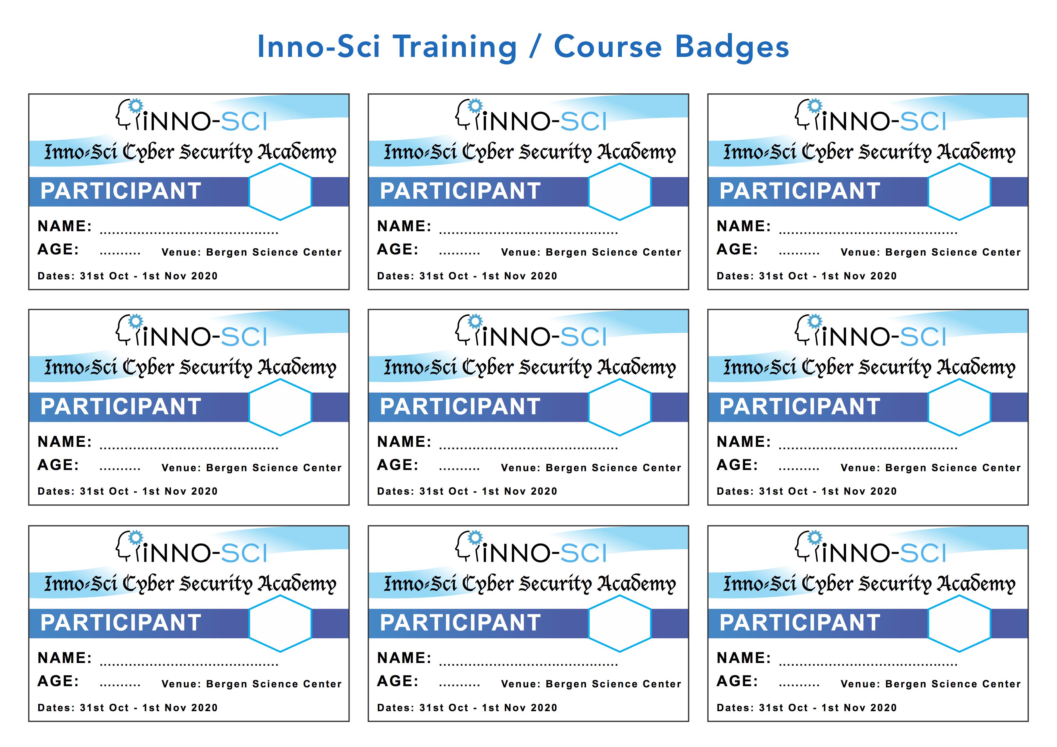 Inno-Sci Training : Course Badges