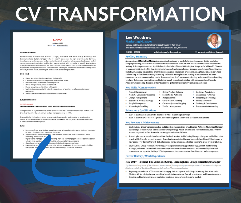 Bigger Fish - CV Writing Transformation