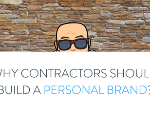Why contractors should build a personal brand?