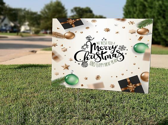 Merry Christmas Wish Yard Sign