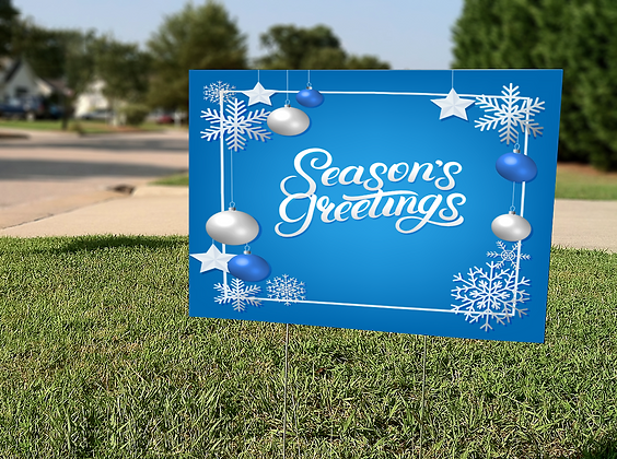 Season's Greetings Yard Sign
