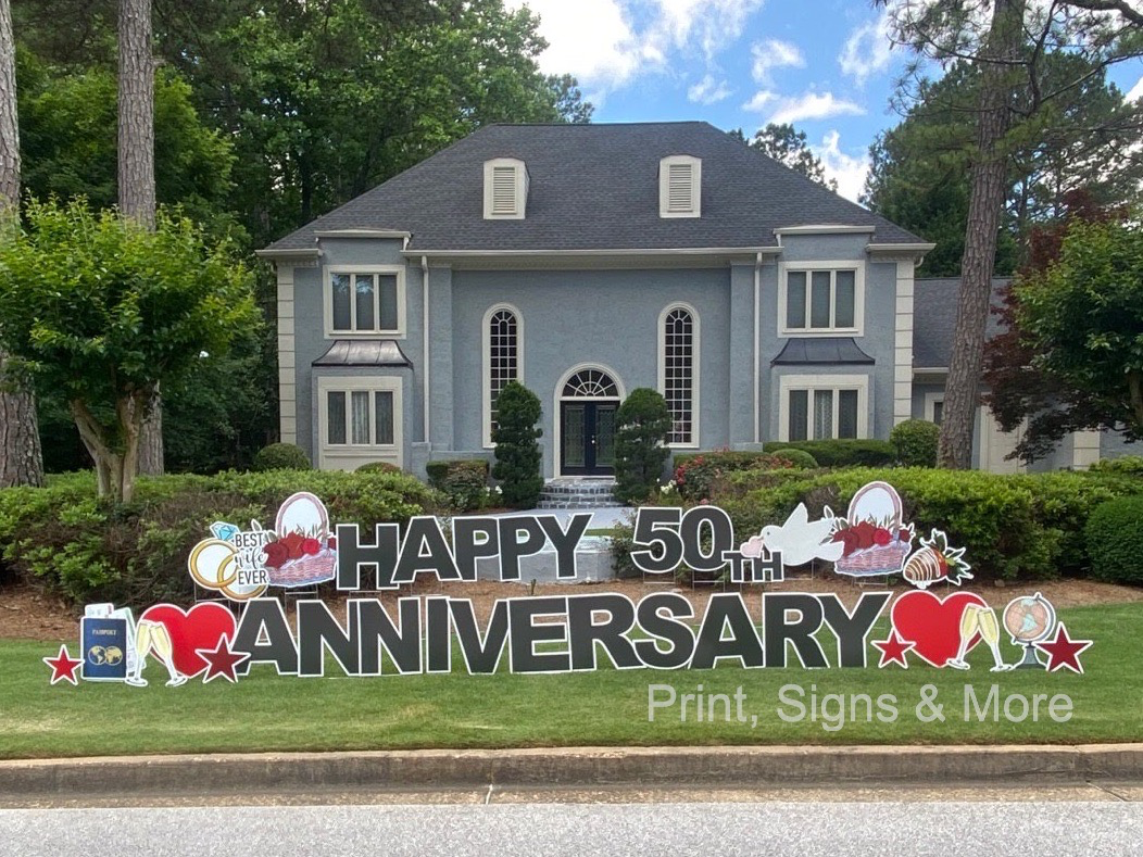 50th Anniversary Yard Sign Display
