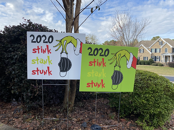 'Grinchmas' Yard Signs