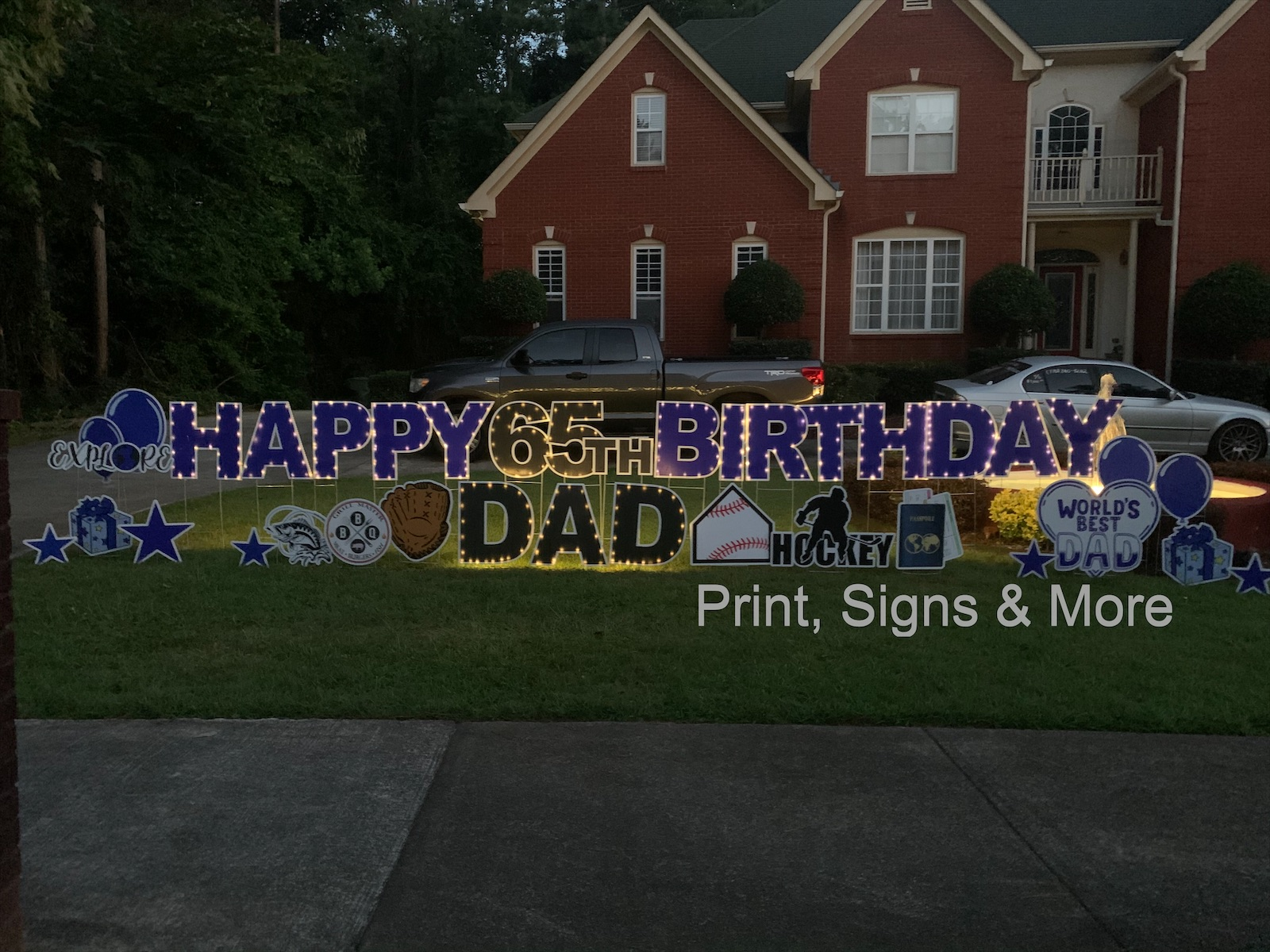 Yard Sign Greetings Party Rentals Supplies Print Signs More