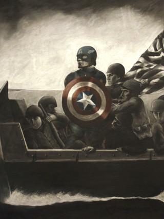 Captain America Invading Normandy