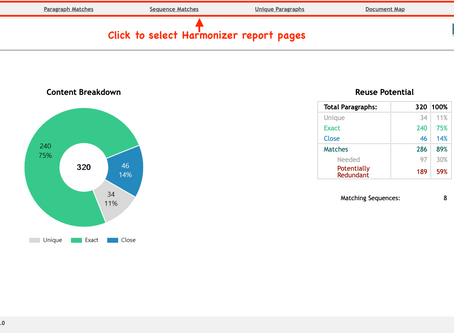 Harmonizer: The First Step in Identifying Content Redundancy