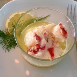 Butter Poached Lobster.