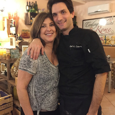 Cooking class in Rome, Italy.  April 2016.