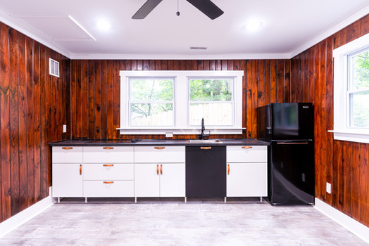 Renovated Kitchen at Foggy Bottom Cabins