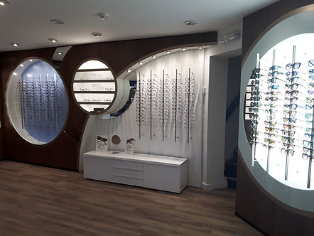 Oakwood Eyecare Our Glasses Display Area