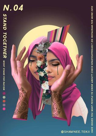Shawnee Tekii, 2019. Stand Together [Digital Collage 29.7 x 42 cm].