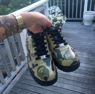 Shawnee Tekii, 2018. Bape [Acrylic Leather Paint on Sneaker size unknown].