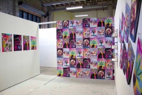 Shawnee Tekii, 2019. Paste up Project View 1 [Installation, size unknown].