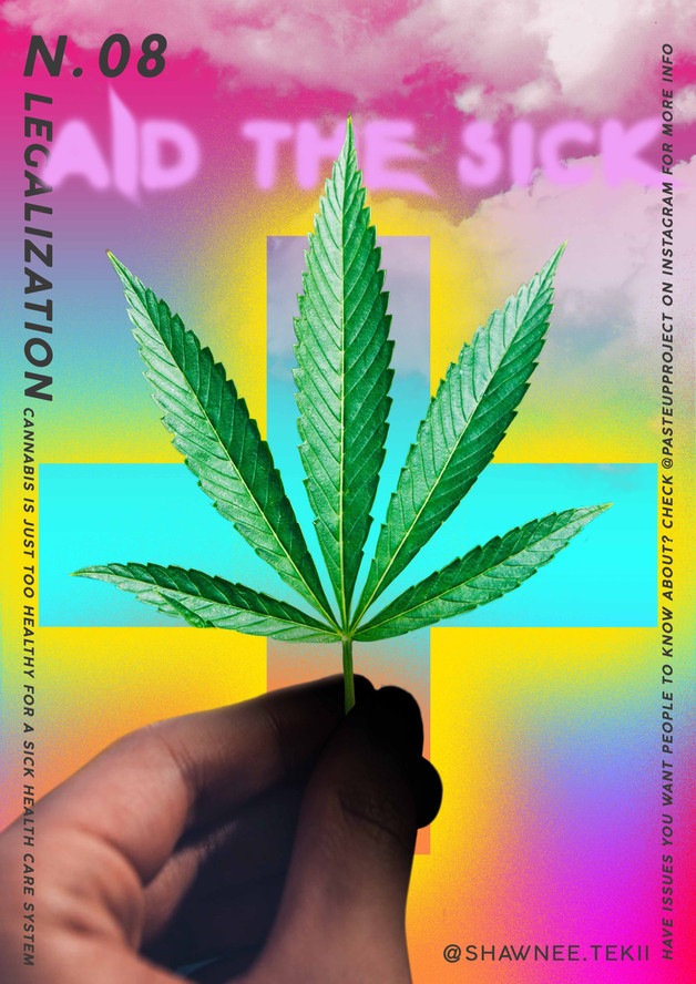 Shawnee Tekii, 2019. Aid the Sick [Digital Collage 29.7 x 42 cm].