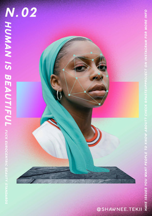 Shawnee Tekii, 2019. Human is Beautiful [Digital Collage 29.7 x 42 cm].