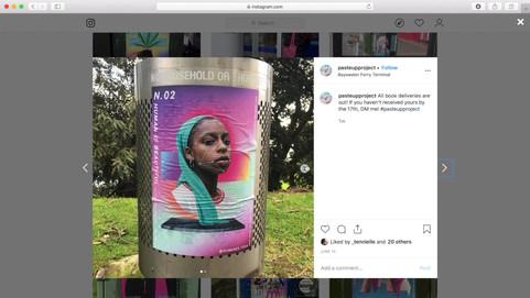 Shawnee Tekii, 2019. Paste up Project Video