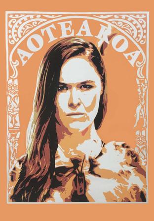 Shawnee Tekii, 2018. Ronda WWE [Acrylic on paper 100 x 140 cm]
